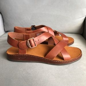 NWB Chaco Wayferer Leather Sandal Rust size 9